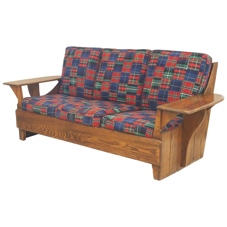 American Mission Rustic Old Hickory Settee For