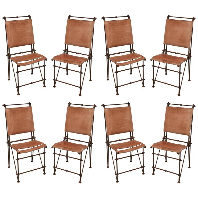 set of eight industrial dining chairs by ilana goor 1
