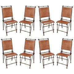 Set of Eight Industrial Dining Chairs by Ilana Goor