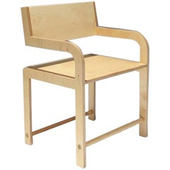 Waka Waka Contemporary Wood Leaning Back Accent Armchair