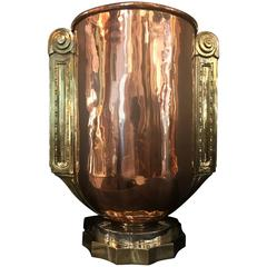 French Art Deco Magnum Ice Cooler or Vase