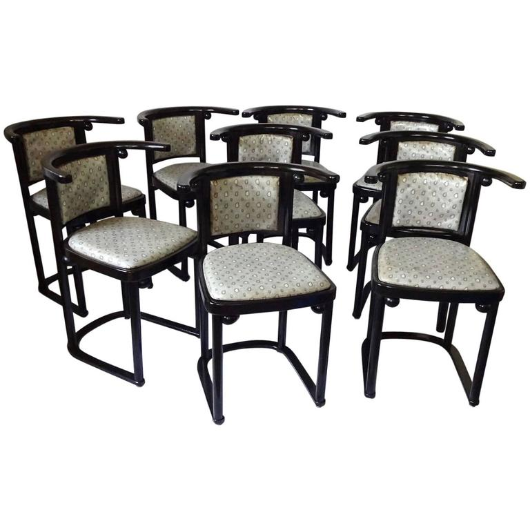 Nine Wittmann, Austria Fledermaus Dining Room Chairs