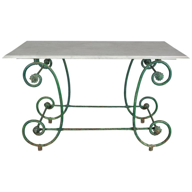 19th Century French Wrought Iron Pastry Table