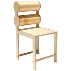 Waka Waka Contemporary Double Cylinder Back Wood Dining Chair