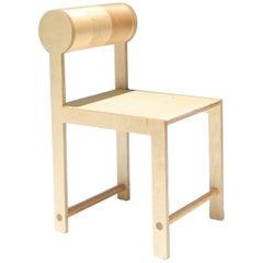 Waka Waka Contemporary Cylinder Back Wood Dining Chair