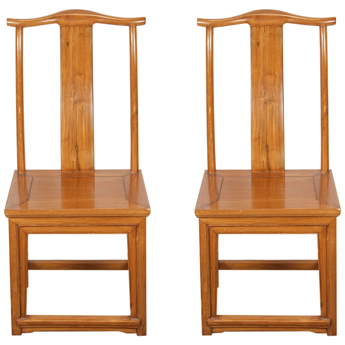Pair of High Back Chinese Chairs Ming Style
