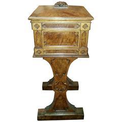 Exceptional 19th Century Scottish Gothic Revival Solid Pollard Oak Utility Box
