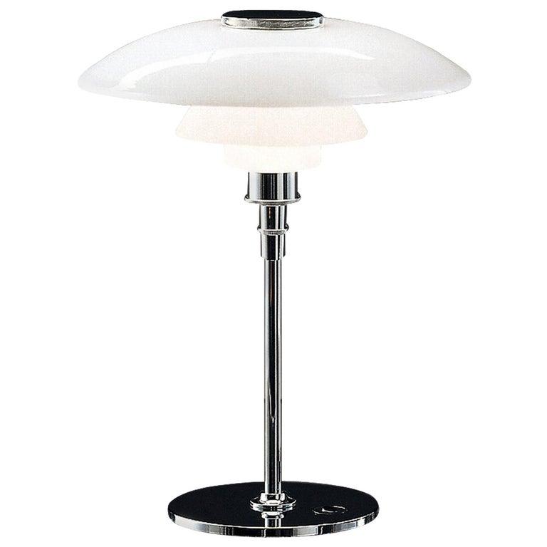 Large Poul Henningsen PH 4½-3½ Glass Table Lamp for Louis Poulsen For Sale