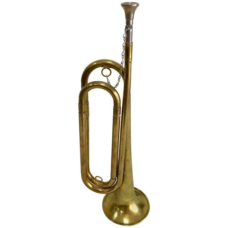 Vintage Brass Bugle Horn