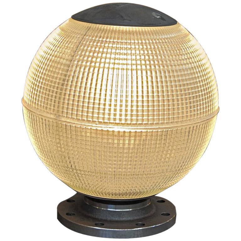 Light Tower Globes: Holophane Parisian Glass Globe Street Light In Desk Or