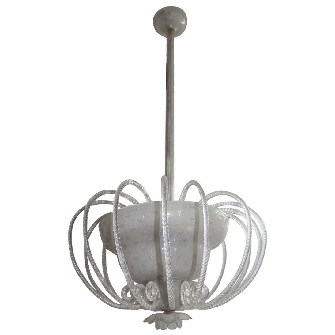 Chandelier Murano Glass, Italian Design 1940s