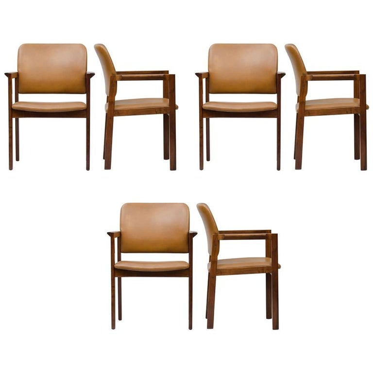 Rosewood Armchairs Set of Six For Sale