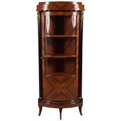 Classic Corner Display Case Vitrine in Biedermeier Style
