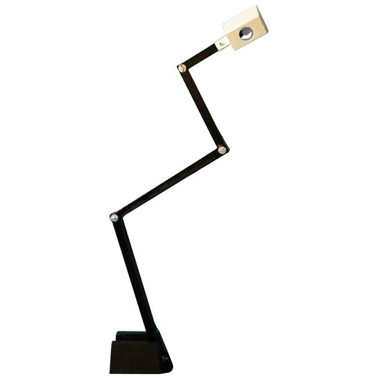 Fantastic Sculptural Architect Standing Lamp, Limited Edition, by Florence Lopez