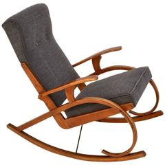 Modernist Czech Rocking Chair in Bentwood