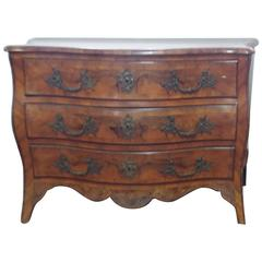 French Walnut Root Chest of Drawer