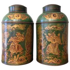 Large Tole Tea Canisters