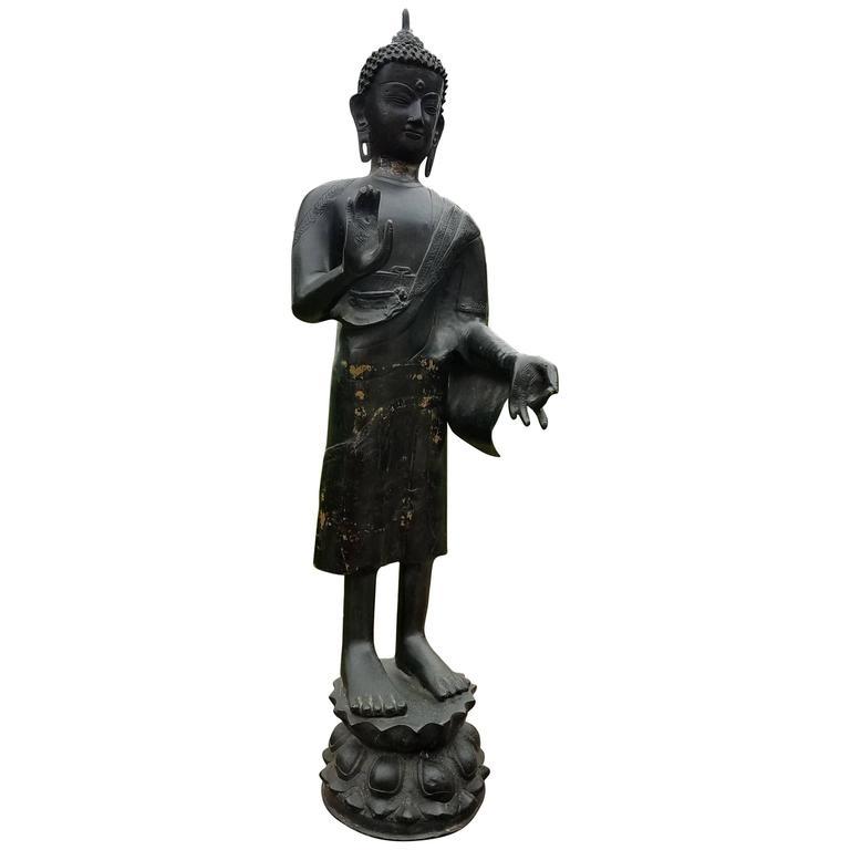 Bronze Buddha Statue Standing