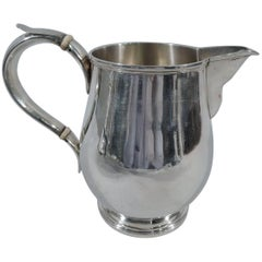 Fine English Georgian Sterling Silver Water Pitcher