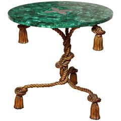 Malachite Topped Side Table
