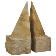 Pyramidin Golden Sienna Marble, Signed