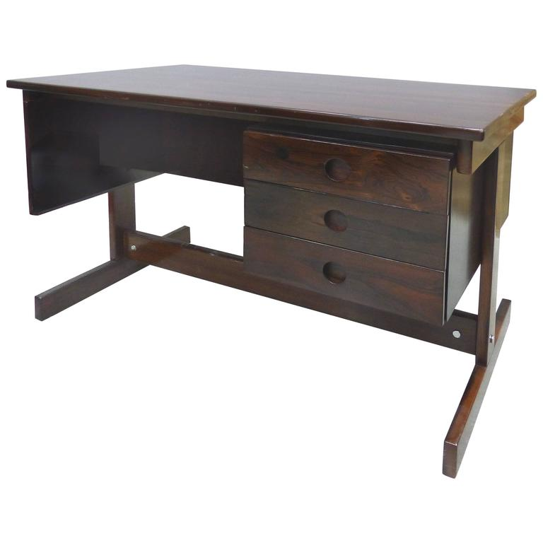 Jacaranda Desk attributed to Sergio Rodrigues, Brazil, 1950s