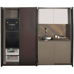 Viva Kitchen Pantry with Sink, Refrigerator, Oven & Cabinets by Alberto Minotti