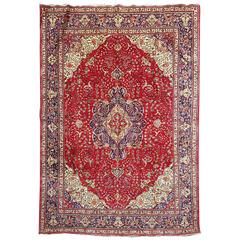 Oriental Tabriz Hand-Knotted Area Rug