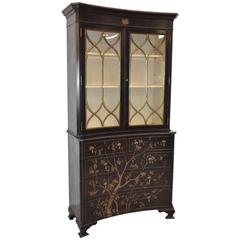 Chinoiserie Style Bookcase Display China Cabinet by Modern History