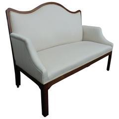 Antique English Upholstered Mahogany Sofa