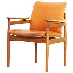Rare Armchair by Finn Juhl for France & Daverkosen, Denmark, 1963