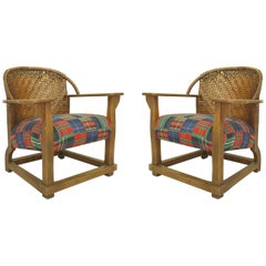 Pair of American Mission Old Hickory Tub Armchairs