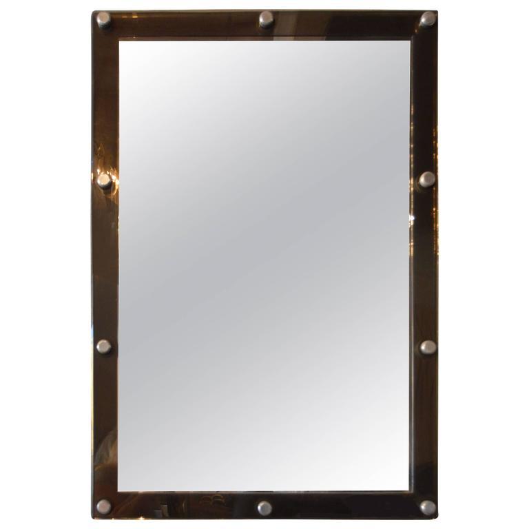 Italian Lucite Mirror For Sale