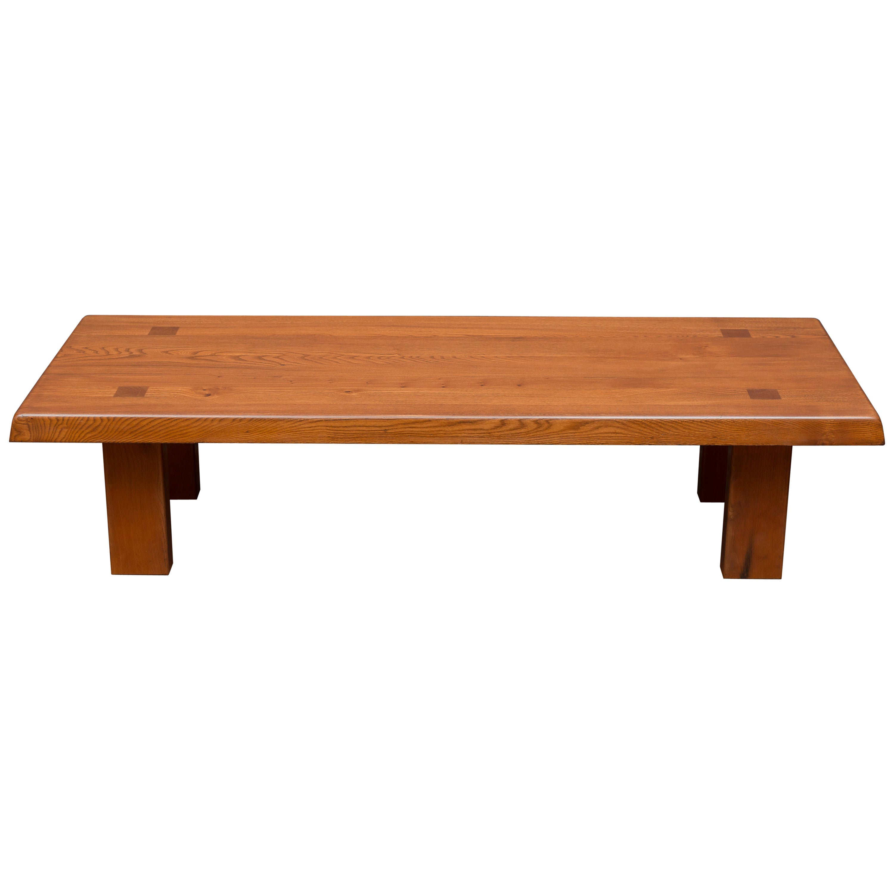 Pierre Chapo French Elm Coffee Table