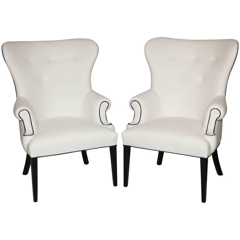 "Pair of Handmade Chairs ""Glam"" designed by Susane R 1"