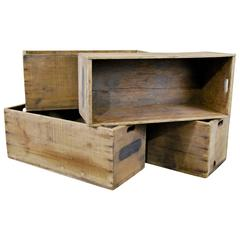 19th Century Wooden Bins from an Old Mill
