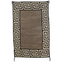 Vintage Navajo Rug, Double Saddle Blanket, circa 1940