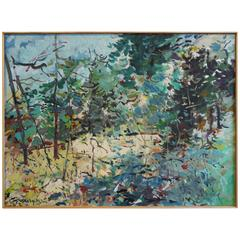 "W. Carl Burger Painting ""Beyond The Forest"""