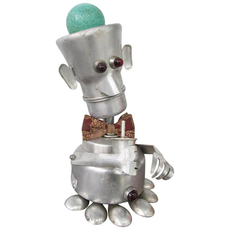 Jim Bauer 'Bow Tie Daddy' Aluminium Robot Sculpture 1