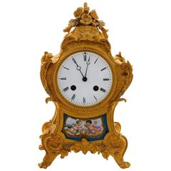 Late 19th Century French Sèvres Porcelain and Ormolu Mantel Clock