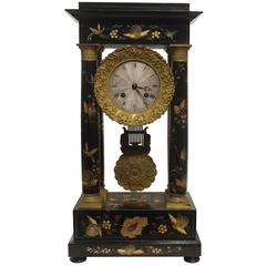 Early 19th Century French Painted Portico Clock
