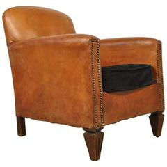 1930s Half Size Leather Club Chair