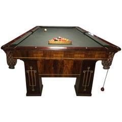 Rare 1918 Brunswick Balke Collender Arts & Crafts Pool Table, Rosewood