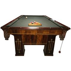 Rare 1918 Brunswick Balke Collender Arts & Crafts Pool Table, Rosewood
