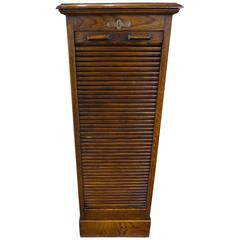 Concertina Front Oak Filing Cabinet