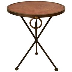 Great Looking Italian Folding Campaign Style Drinks Side Table