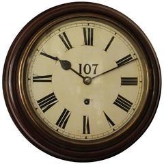 Early 20th Century Dial Wall Clock in Walnut Case