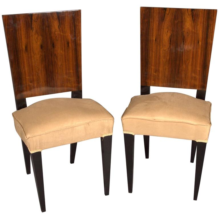 Elegant Chair In Art Deco Style, Rosewood Veneer
