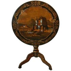 19th Century French Chinoiserie Tilt-Top Table