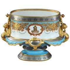 Large 19th Century Porcelain Jardinière